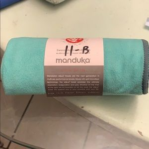 Manduka Equa yoga hand towel-Seagrass
